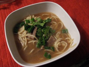 Ginger Beef and Noodle Soup