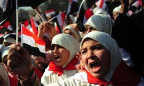 women in Tahrir Square, Egypt