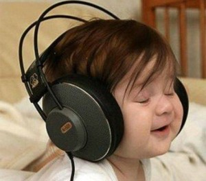 kids listening to music