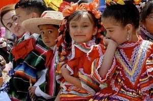 Children celebrate cinco de mayo