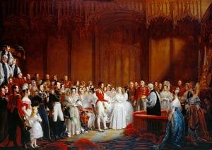 Queen Victoria Wedding Party